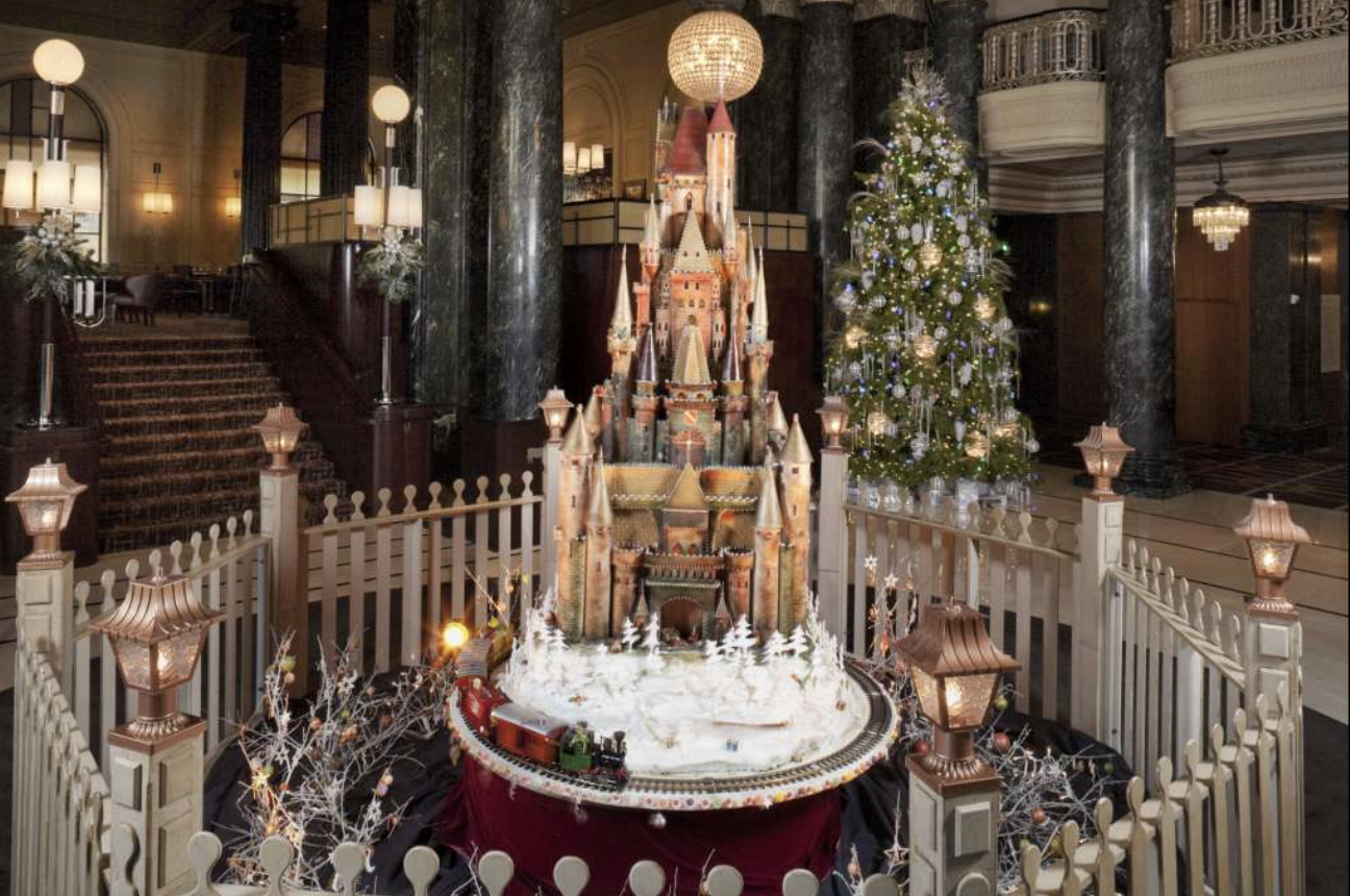 """SF Gate- """"These epic SF holiday sugar castles take 300 hours to create, use 1,000 pounds of baking materials"""""""